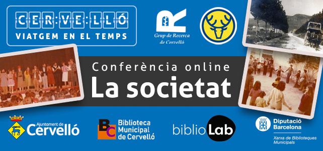 Conferència online «La societat» – Cervelló viatgem en el temps – BIBLIOLAB